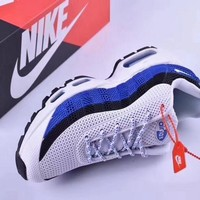 Nike Air Max 95 White Black Blue Men Sneaker