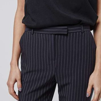 TALL Pinstripe Cigarette Trousers