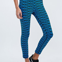 Nike Leg-A-See Logo Leggings in Blue - Urban Outfitters