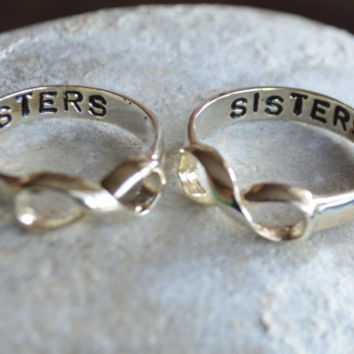Infinity ring Sisters Ring Best Friend Ring couples by LoLJewels