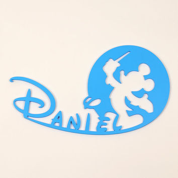 Wooden Letters For Wall- Wood color signs Baby name Disney Mickey Mouse, Personalized name, Wood Home decor, Baby Room sign, Wall Decor