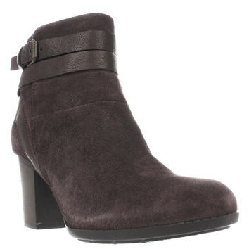 Clarks Enfield River Strappy Ankle Boots, Brown, 9.5 US / 41 EU