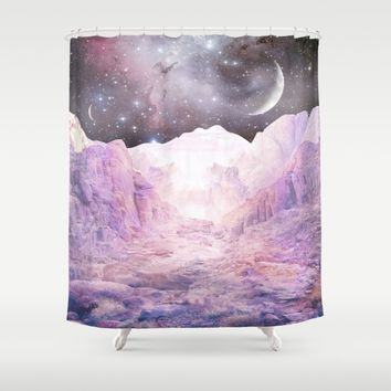 Misty Mountains Shower Curtain by Starseed Designs