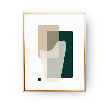 Scandinavian Design, Rectangles Poster, Green Brown Poster, Pastel Decor, Geometric Shapes, Geometric Textures, Minimal Poster, Textured Art
