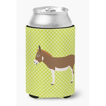 Miniature Mediterranian Donkey Green Can or Bottle Hugger BB7673CC