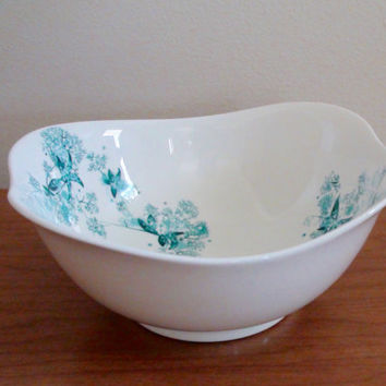 Vintage Eva Zeisel for Hallcraft Coupe/Cereal Bowl -- Frost Flowers