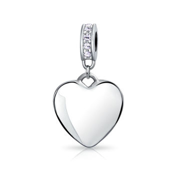 Bling Jewelry Dangling Heart Charm