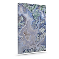 "KESS Original ""Pastel Geode"" Blue Teal Canvas Art"