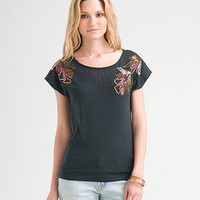 H81 Floral Bead & Sequin Top