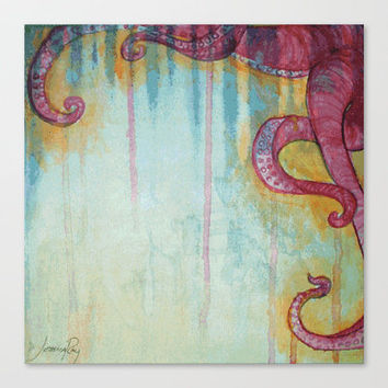 Octopus Stretched Canvas by JesseRayus