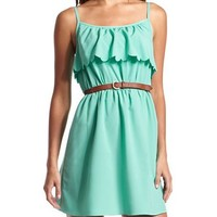 Belted Ruffle Bust Dress: Charlotte Russe