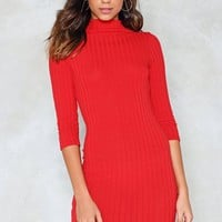 Hot Line Ribbed Dress