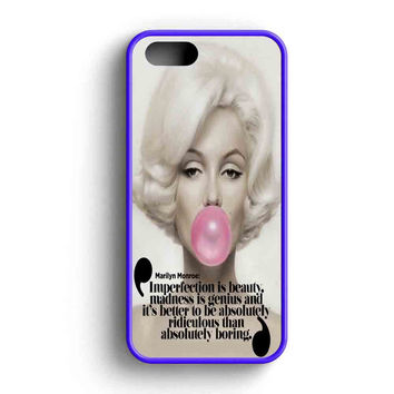 Marilyn Monroe Bubble Gum Quotes Imperfection Is Beauty  iPhone 5 Case iPhone 5s Case iPhone 5c Case