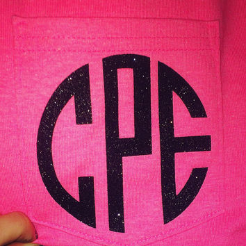 DIY Monogram Heat Transfer! -  Do It Yourself - Personalize Clothing - Monogram Shirt - Monogram Clothes - Customize - Personal - Iron On