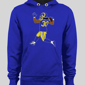 LOS ANGELES RAM'S TODD GURLEY RUNNING WINTER HOODIE/ SWEATER