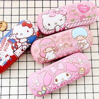 Kawaii Little Twin Star Hello Kitty My Melody PU Cosmetic Bag Glasses Cases Mini Storage Bag For Kids Christmas gifts Brinquedos