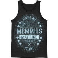 Memphis May Fire Men's  Crest Mens Tank Black Rockabilia