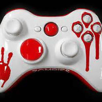 Blood Splatter Zombie Custom Painted Xbox 360 Controllers