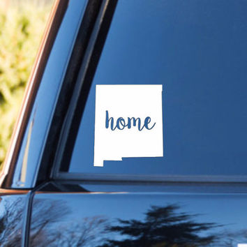 New Mexico Home Decal | New Mexico Decal | Homestate Decals | Love Sticker | Love Decal  | Car Decal | Car Stickers | 123