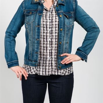 Tribal Retro blue denim jacket