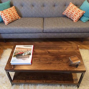 Reclaimed Wood Coffee Table: Bare Design - Solid Reclaimed Wood and Steel Coffee Table