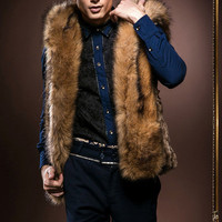 Men's Fashion Winter Men Hats Stylish Fur Rabbit Jacket [6528874115]