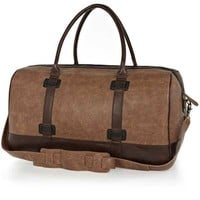 Vegan Leather Two-Tone Holdall