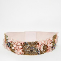 ASOS | ASOS Co-Ord Pearl And Bead Embellished Waist Belt at ASOS
