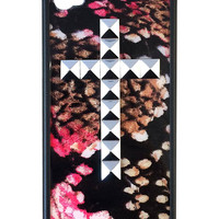 Rosy Boa Silver Studded Cross iPhone 4/4s Case