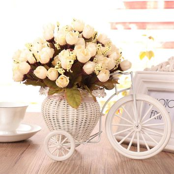 Artificial Flower Rose Bouquet Home Hotel Room Wedding Party Garden Decoration home decor