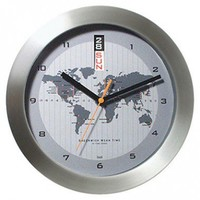 Bai Design GMT Wall Clock with World Map - 784.MD