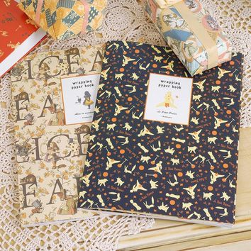 ENO Greeting little prince vintage wrapping paper book alice in wonderland gift wrapping papers for scrapbooking,cardmaking