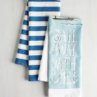 Nautical Ahoy Meets World Tea Towel Set by ModCloth
