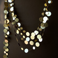 Gold wedding garland, Gold garland, Shimmer garland, Paper garland, Birthday Decorations, Wedding decor, Circle paper garland, Home decor