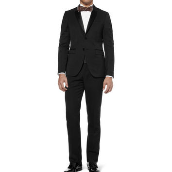 Burberry Prorsum Black Slim-Fit Wool Tuxedo Jacket | MR PORTER