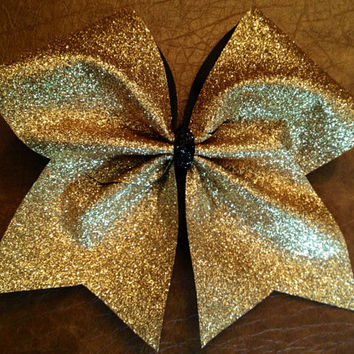 Cheer Bow - Gold Glitter