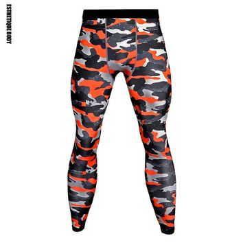 13-color Men's Fitness Jogging Compress Trousers Gym Workout Bodybuilding Running Pants Camouflage Compression Sportswear