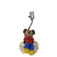 Vintage Lamp and Nightlight Mickey Mouse Walt Disney Children's Room Decor 1970s Walt Disney Productions Light Fixture