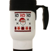 Ho Ho Ho Ugly Christmas Sweater Stainless Steel 14oz Travel Mug