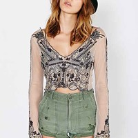 Kimchi Blue Soleil Cropped Top- Nude