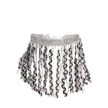 Limited Edition Sequin Fringe Choker Necklace