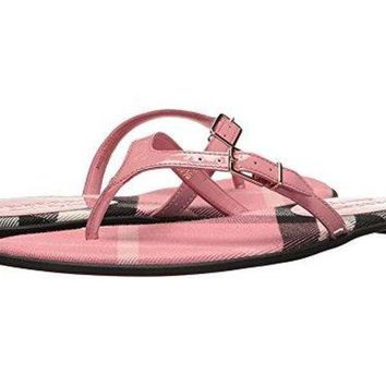 ICIKG2C BURBERRY Flip Flops Shoes Leather Made In London