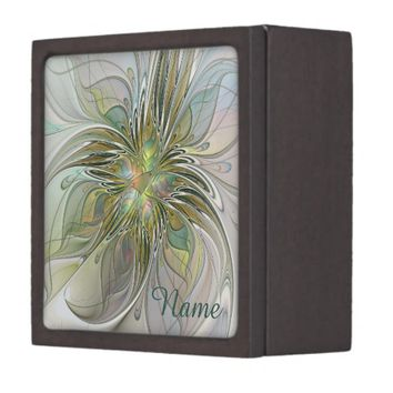 Floral Fantasy, Abstract Fractal Art Name Gift Box