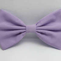 Lavender Bow Clip Lilac Hair Bow Clip Lilic bow Light purple bow Big Bows lavender Fabric Bow School Hair bow for teens bows women bows
