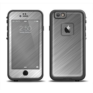 The Silver Brushed Aluminum Surface Apple iPhone 6 LifeProof Fre Case Skin Set