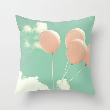 Pillow cover, pink pillow, coral pillow, turquoise pillow, mint pillow, aqua pillow, love pillow, sky pillow, baby pillow, nursery