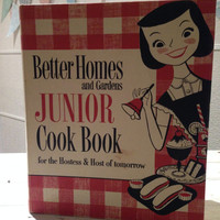 Vintage - 1955 First Edition Better Homes & Gardens Junior Cook Book with BONUS