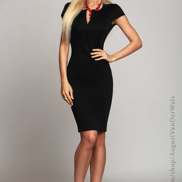 Black dress, Bodycon dress, little black dress, sheath dress, business casual dress, office dress, pencil dress, sexy dress, autumn dress