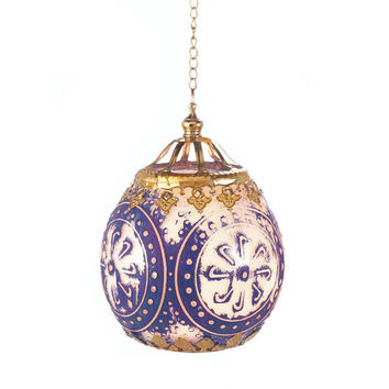 Blue Antiquity Moroccan Hanging Candle Lantern Wedding or Party Decor