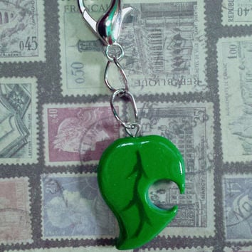 Animal Crossing Leaf Key Chain Charm